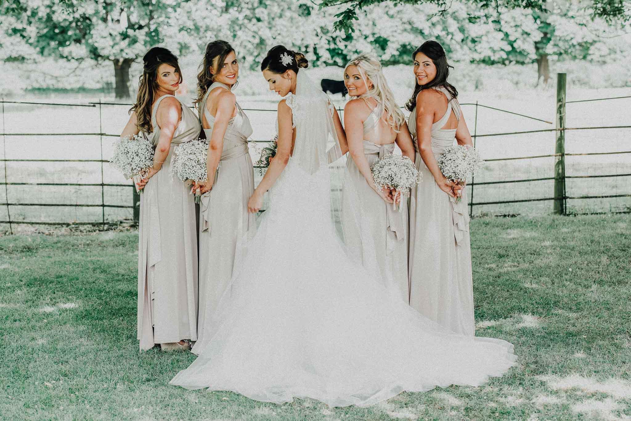 bridesmaids dresses, boho weddings, wedding photographer Milton Keynes
